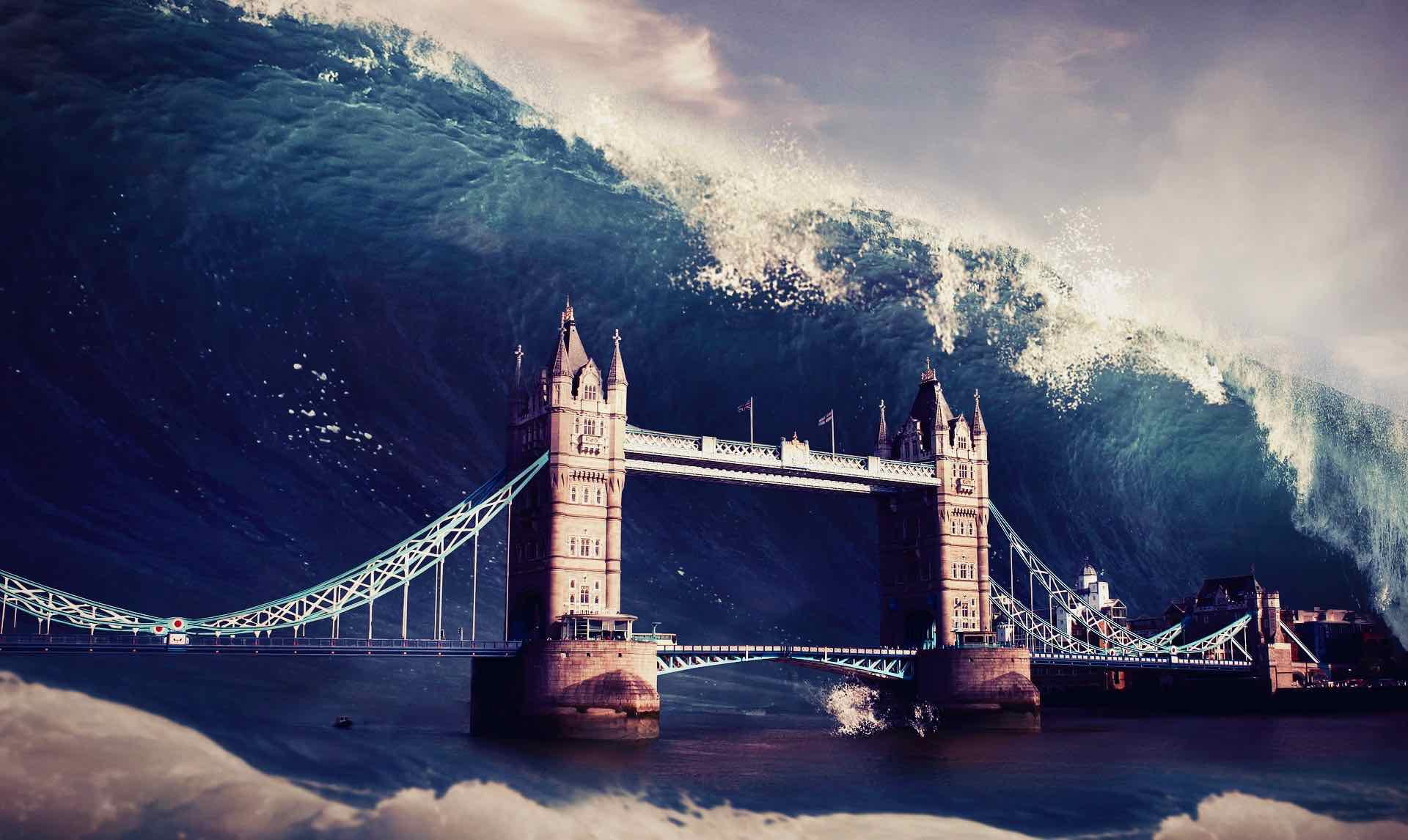 Inondation biere Londres